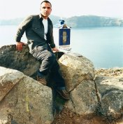 December 2000 | The last eruption in Santorini was the largest in the ancient world. In legend It buried Atlantis which is suppose to be underneath me in this photo. Volcanologists predicted another eruption around 2000 that will sink the island. It didn't happen.