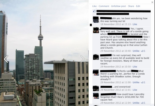 Facebook post: screen capture