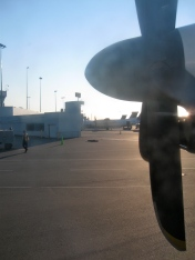 Pulling away from gate. Billy Bishop Airport - Toronto