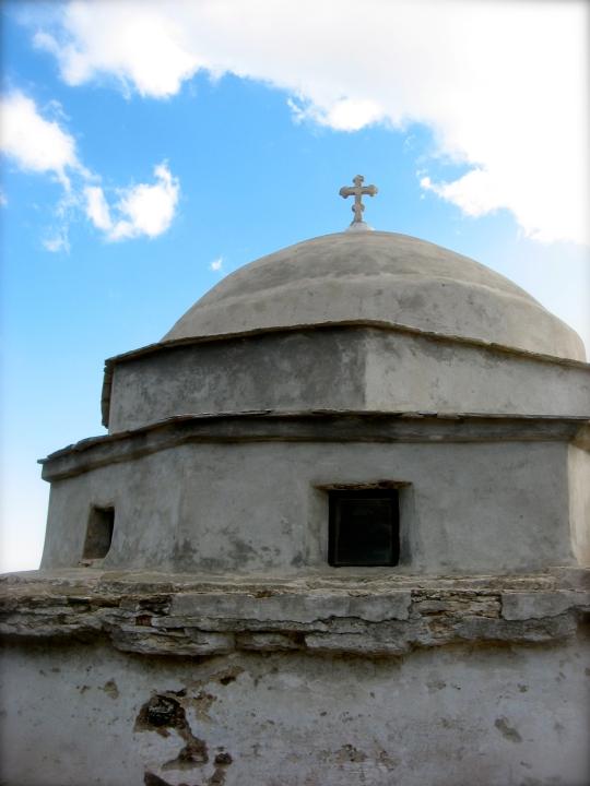 Tinos church ruins
