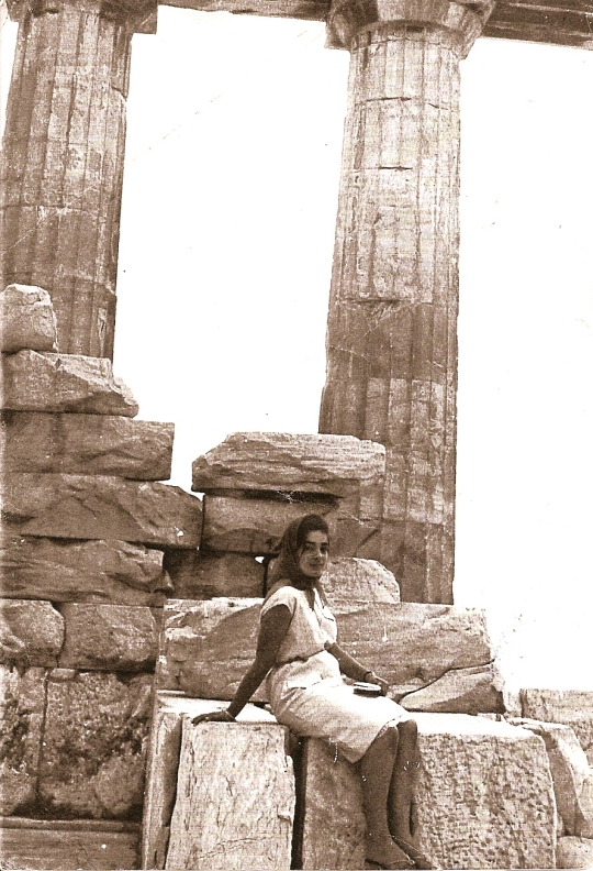 Mom at parthenon:1963